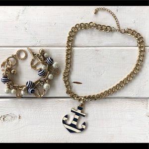 Nautical Necklace & Bracelet Set